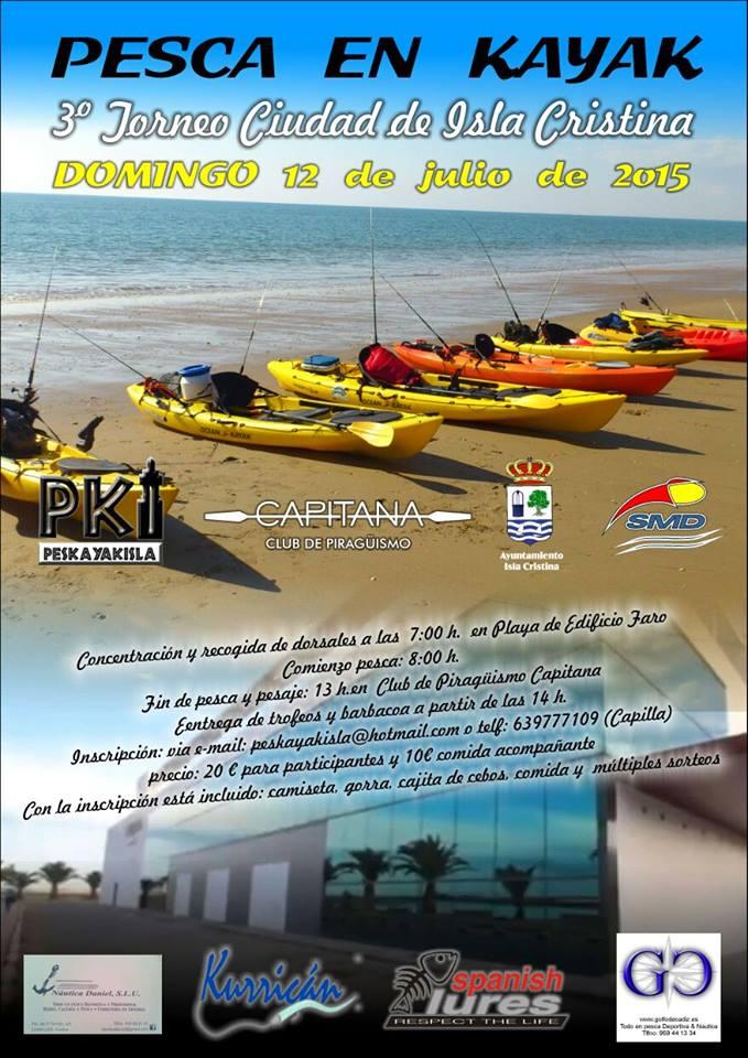 III Torneo de Pesca en Kayak Ciudad de Isla Cristina