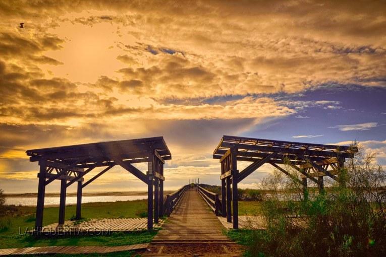 Puente de madera la Gola