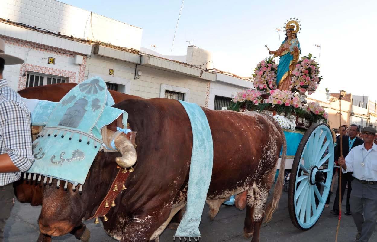 La procesión de María Auxiliadora anuncia el final de las Fiestas de Pozo del Camino