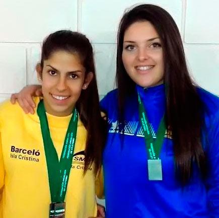 Rosa Flores y Estela Cazorla, al LXIV Campeonato de España Juvenil de Atletismo de aire libre