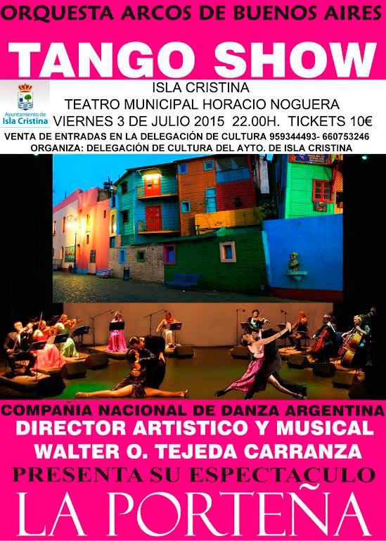 Espectáculo de tango en Isla Cristina