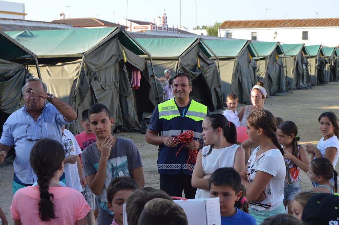 La Escuela de Educación Vial de Isla Cristina colabora con las Colonias de Sevilla