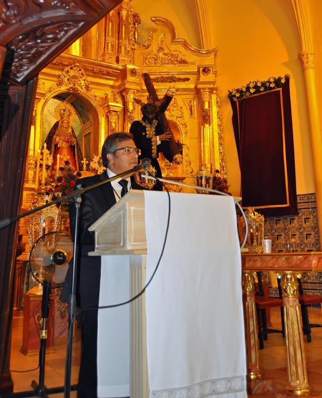Francisco González pronuncia el Pregón del Gran Poder en el 75 Aniversario de la llegada de la Imagen a Isla Cristina