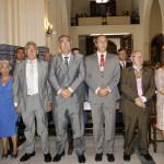 La Alcaldesa junto al Presidente del Consejo, el Hno Mayor del Carmen, el Patrón Mayor y el Marinero del Año en la misa