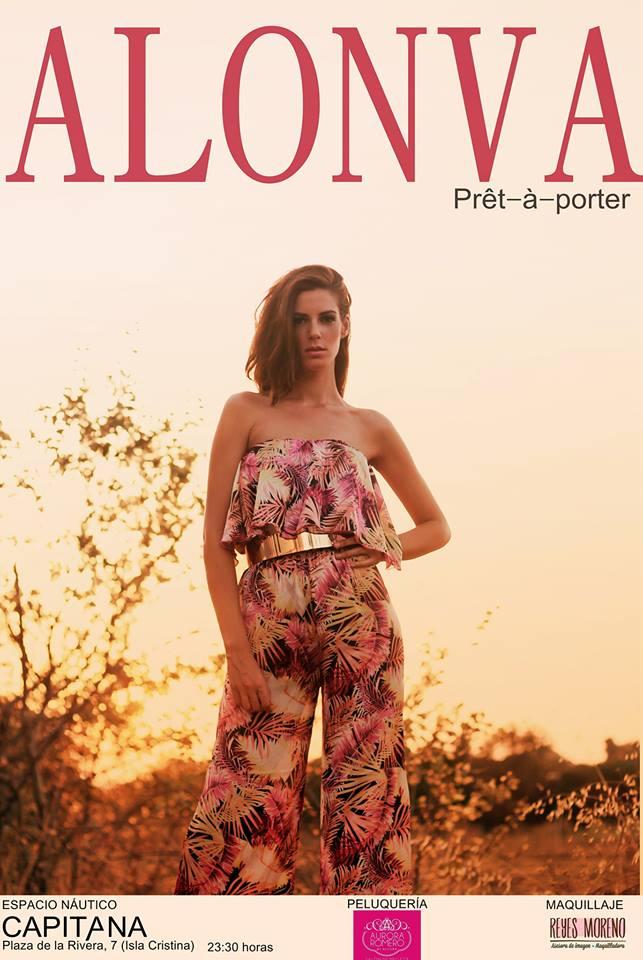 la joven diseñadora isleña Cristina Vargas, presenta en Isla Cristina su primera colección de ropa femenina, Alonva