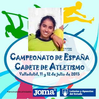 Belén Fernández Participa en el XIV Campeonato de España Cadete de Atletismo
