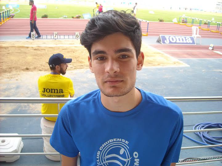 Héctor Santos en la Final del Mundial Juvenil de Atletismo