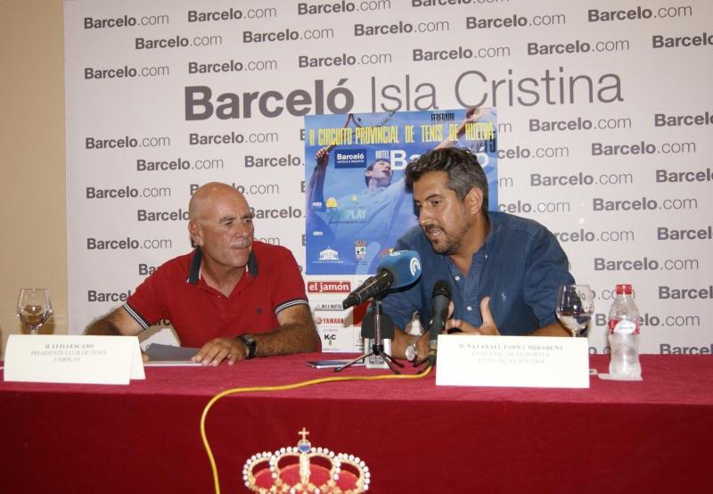 Presentado en Isla Cristina el II Circuito Provincial de tenis