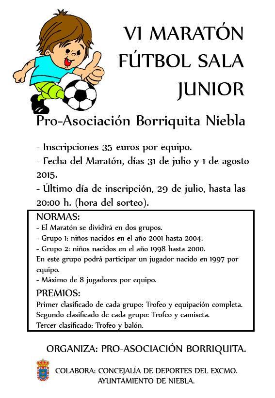 Niebla Celebra el VI Maratón de Fútbol Sala Júnior Pro-Asociación Borriquita