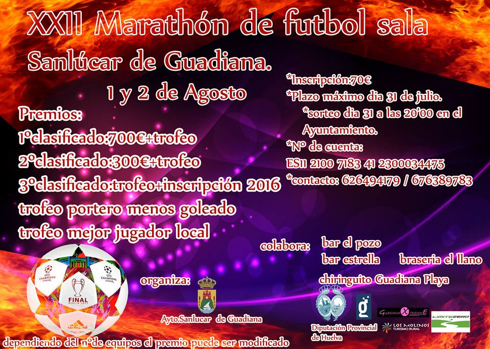 XXII Marathón de Fútbol Sala de Sanlúcar de Guadiana