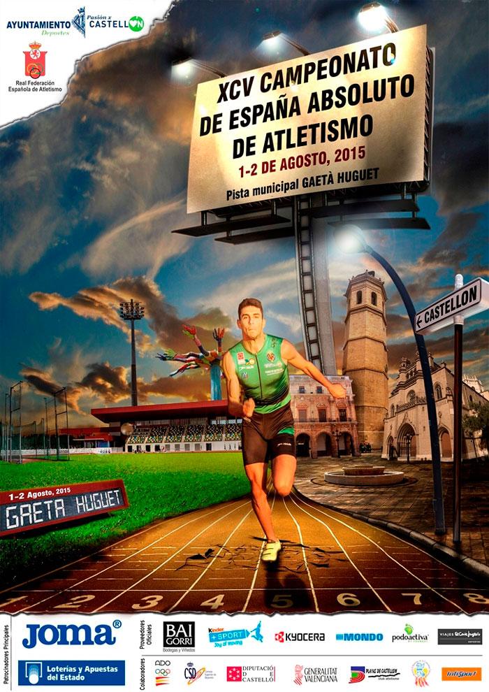 Laura García-Caro, Carlos Martín y José Manuel Cortés en EL XCV Campeonato de España Absoluto de Atletismo