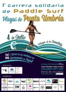 Rocío Delgado y Javier López Ganan la I Carrera Solidaria de Paddle Surf Playas de Punta Umbría
