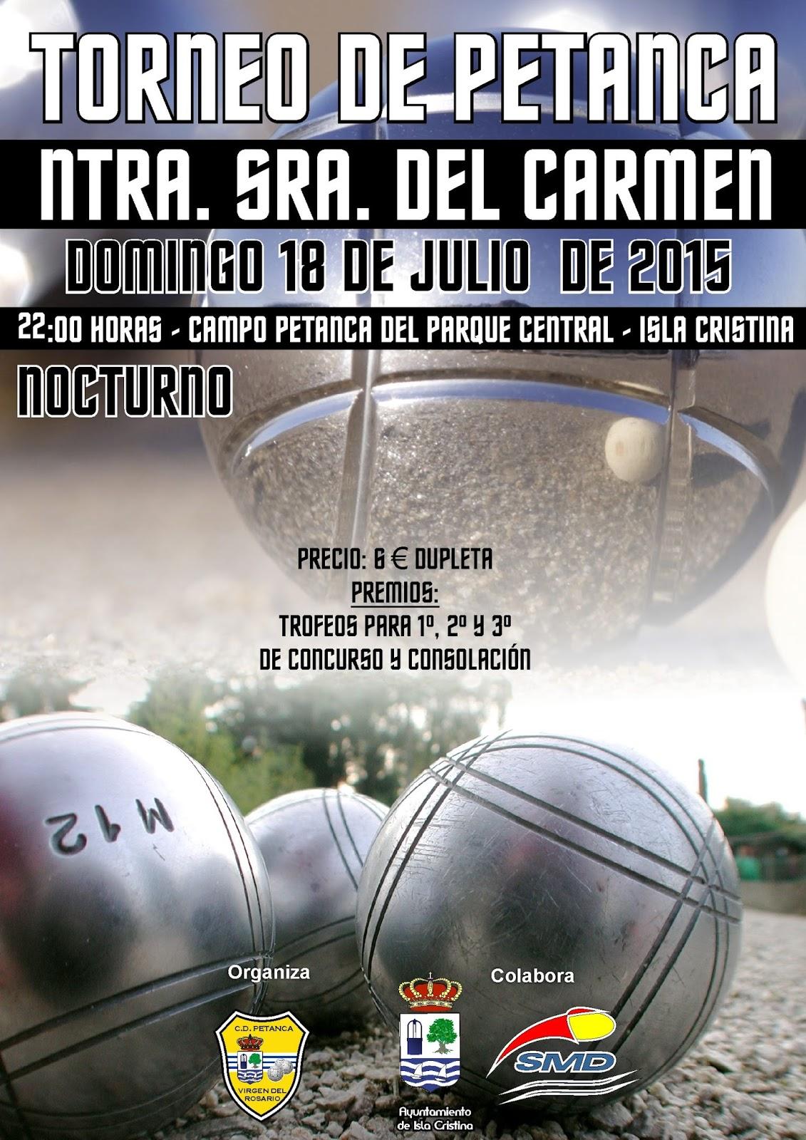 Isla Cristina Alberga el Torneo Nocturno de Petanca Virgen del Carmen