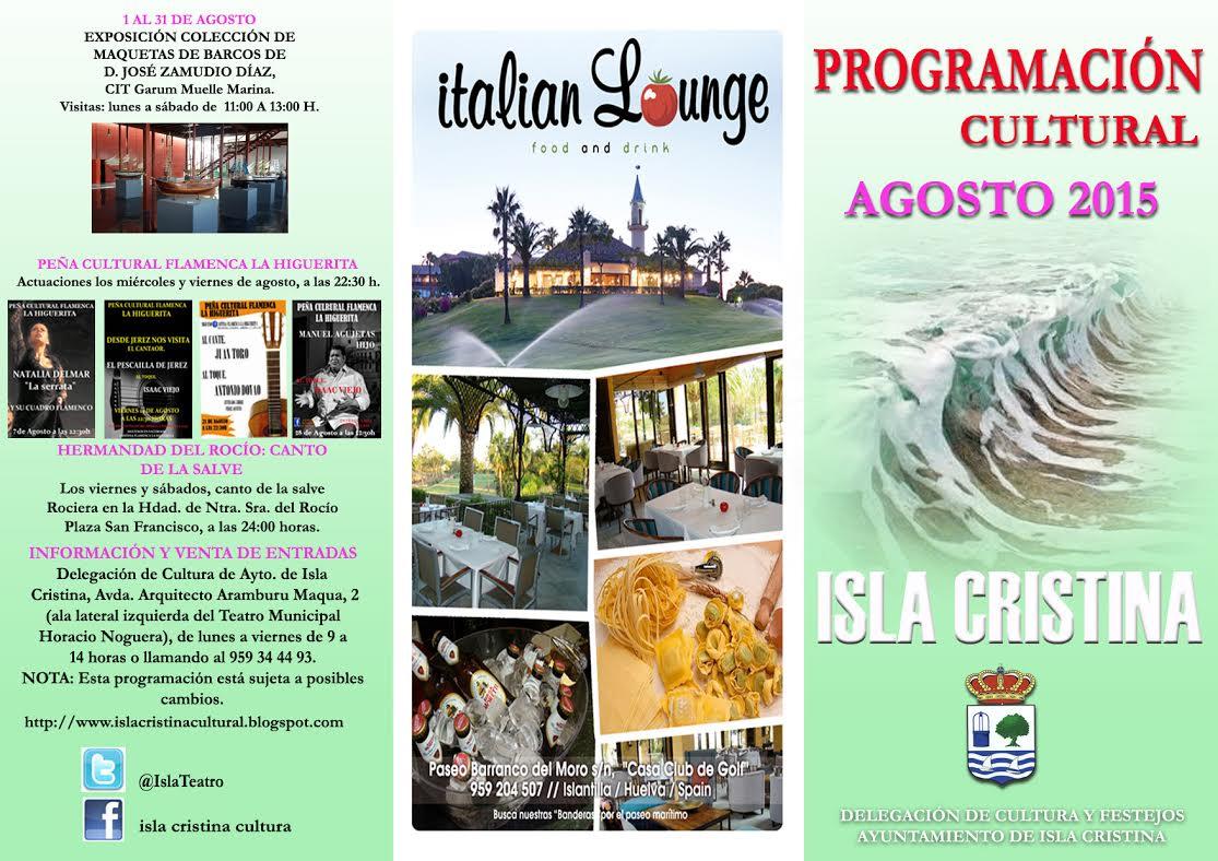 Programación cultural para el mes de agosto en Isla Cristina