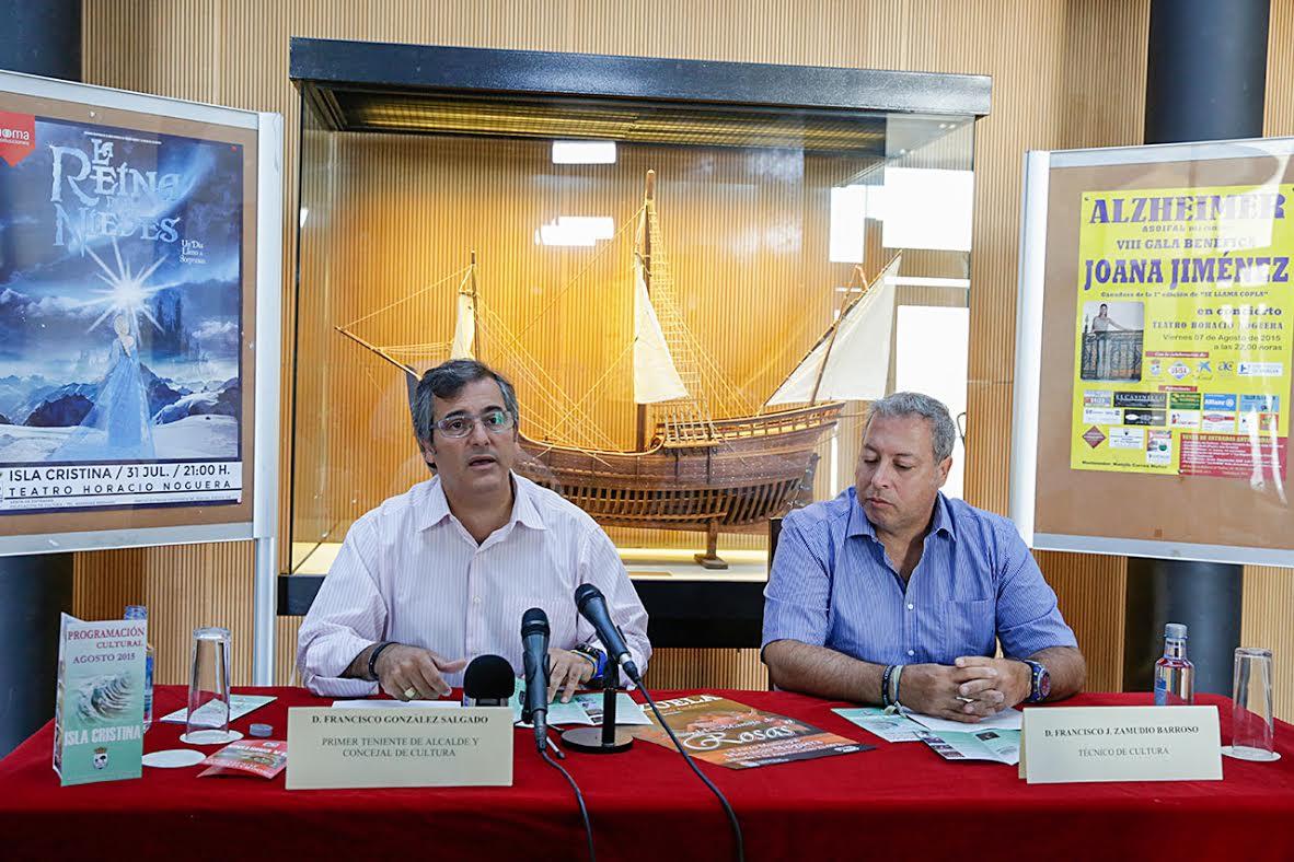 Presentada la programación cultural para el mes de agosto en Isla Cristina