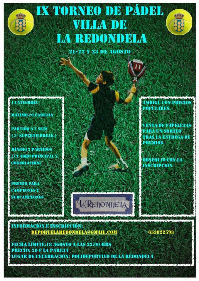 IX Torneo de Pádel Villa de La Redondela