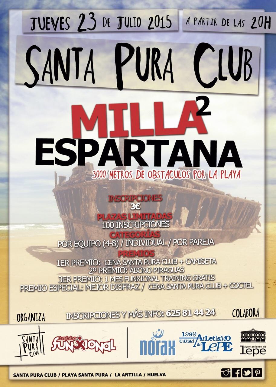 La Antilla acoge la I Milla Espartana Santa Pura Club,