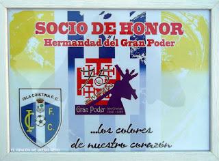 El Isla Cristina F.C. hermanada con la Hermandad del Gran Poder en su 75º aniversario