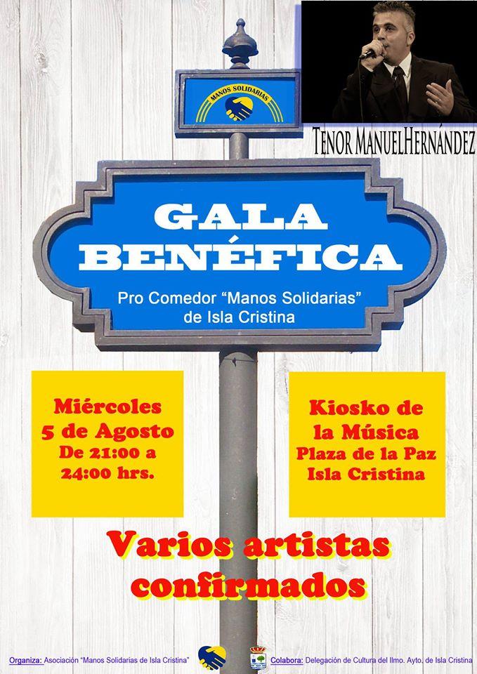 El Tenor Manuel Hernández actuará en la gala a beneficio del comedor 'Manos Solidarias' de Isla Cristina