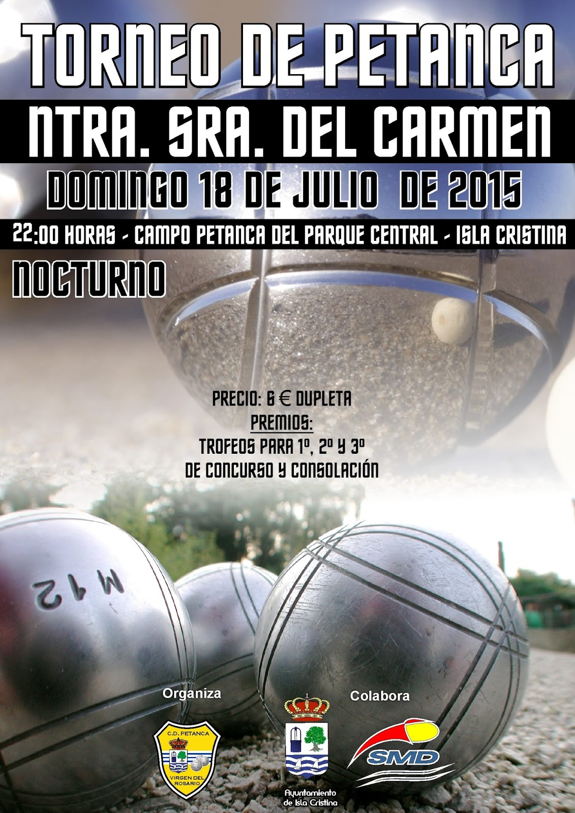 Isla Cristina Alberga el Torneo de Petanca Virgen del Carmen