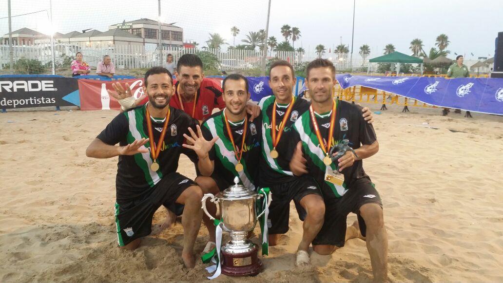 Cinco Onubenses Campeones de España de Fútbol Playa