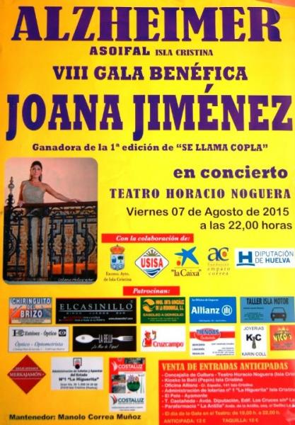 Joana Jiménez en la VIII Gala Benéfica Asoifal de Isla Cristima