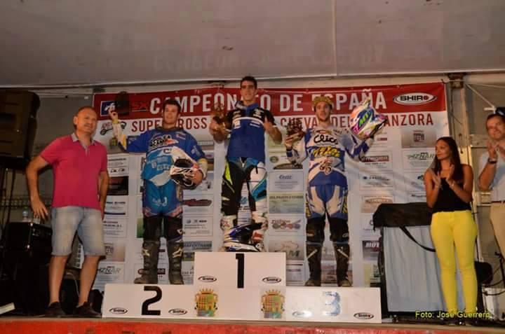 Fantástico Supercross del Isleño Manuel Beltran en Cuevas de Almanzora