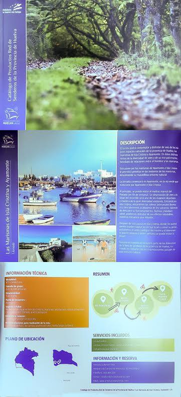 Las Marismas de Isla Cristina en el Catálogo de la red de Senderos de la Provincia