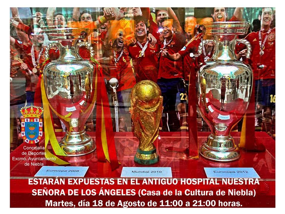 Niebla Expone los Trofeos de la Selección Española de Fútbol