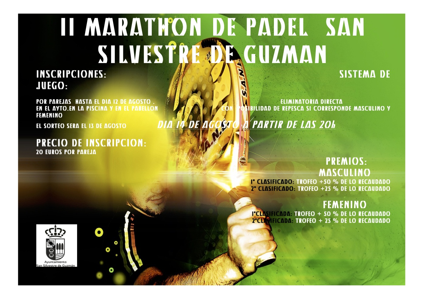 II Marathón de Pádel San silvestre de Guzmán