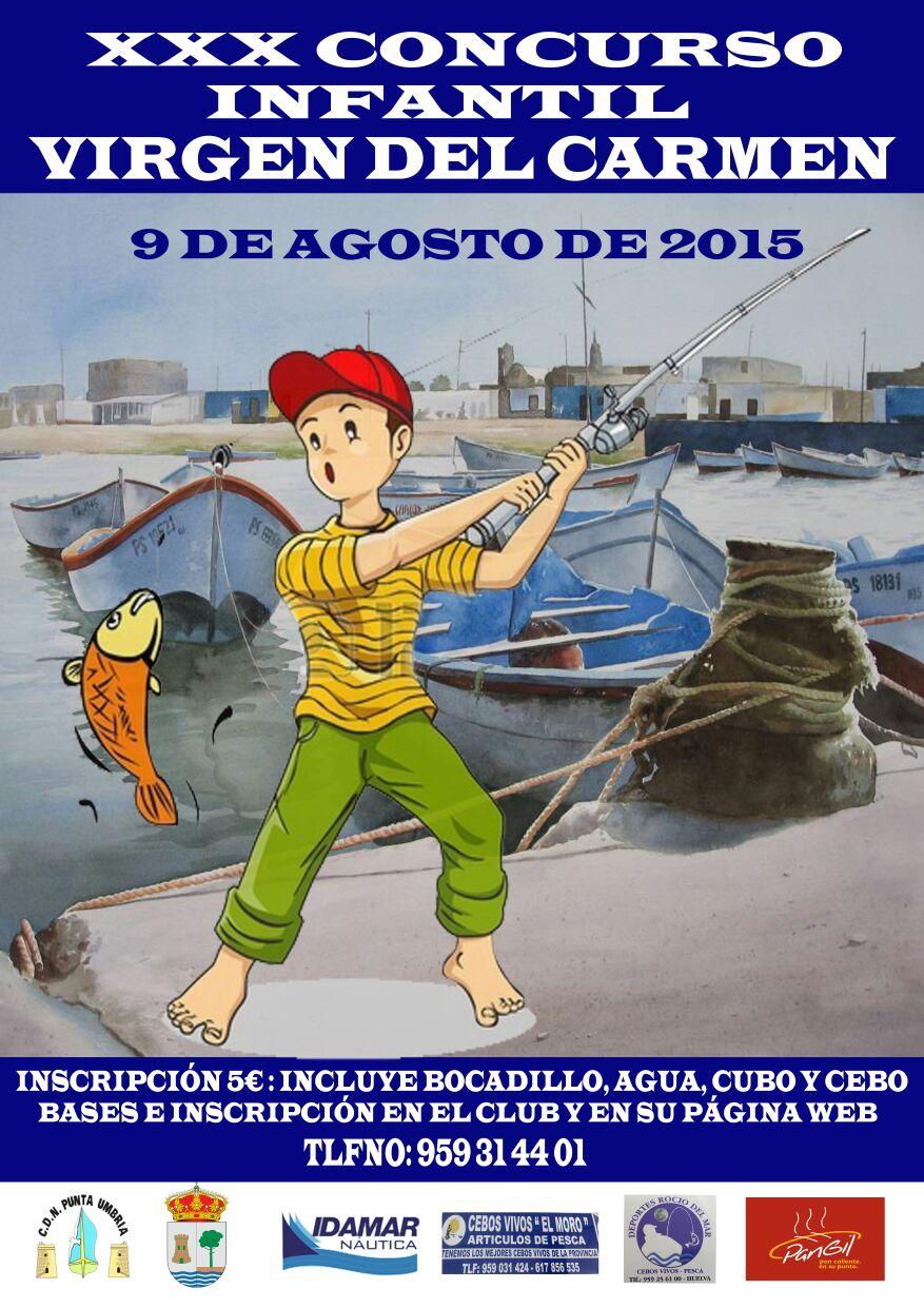 Punta Umbría Acoge el XXX Concurso Infantil de Pesca Ntra. Sra. del Carmen