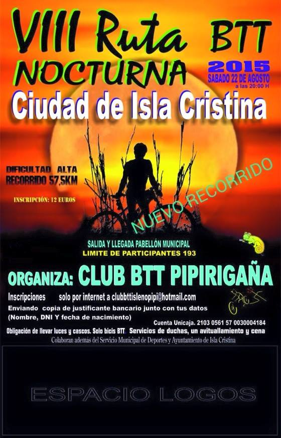 VIII Ruta BTT Nocturna Ciudad de Isla Cristina