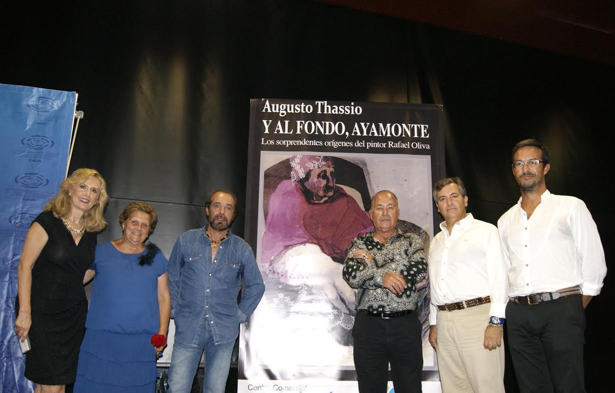 Augusto Thassio presenta en Isla Cristina su ultima novela sobre la vida del pintor ayamontino Rafael Oliva