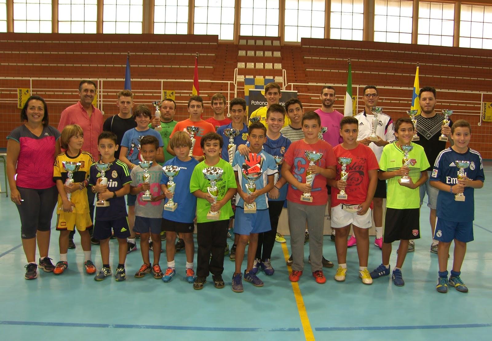 Blanco y Domínguez Campeones del Concurso de Porteros y Lanzadores de Penaltis de Moguer