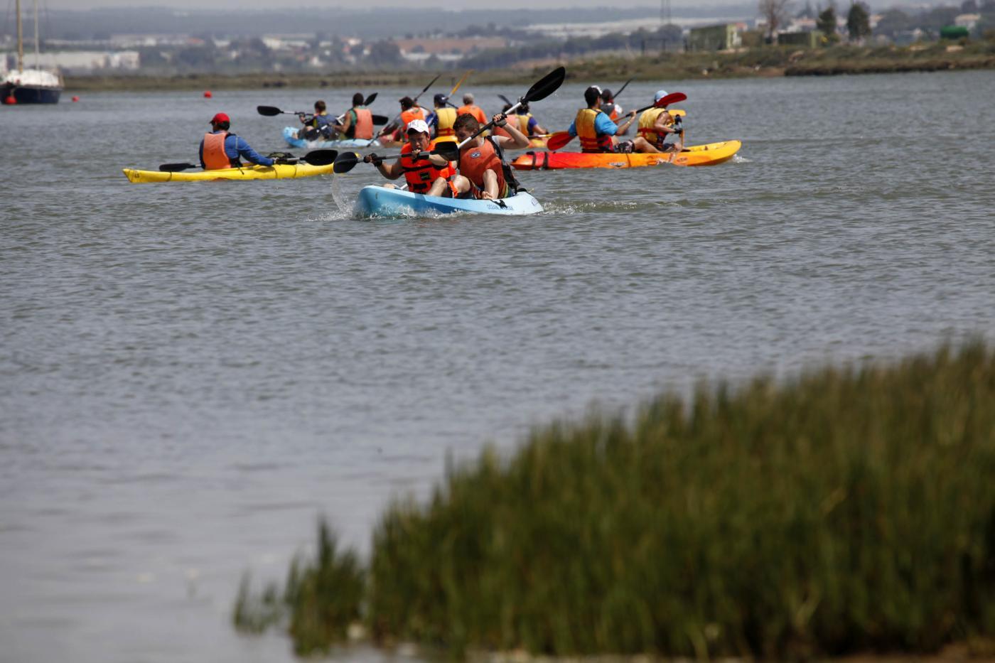 Sábado Deportivo de Islantilla con descenso del río Piedras en kayak
