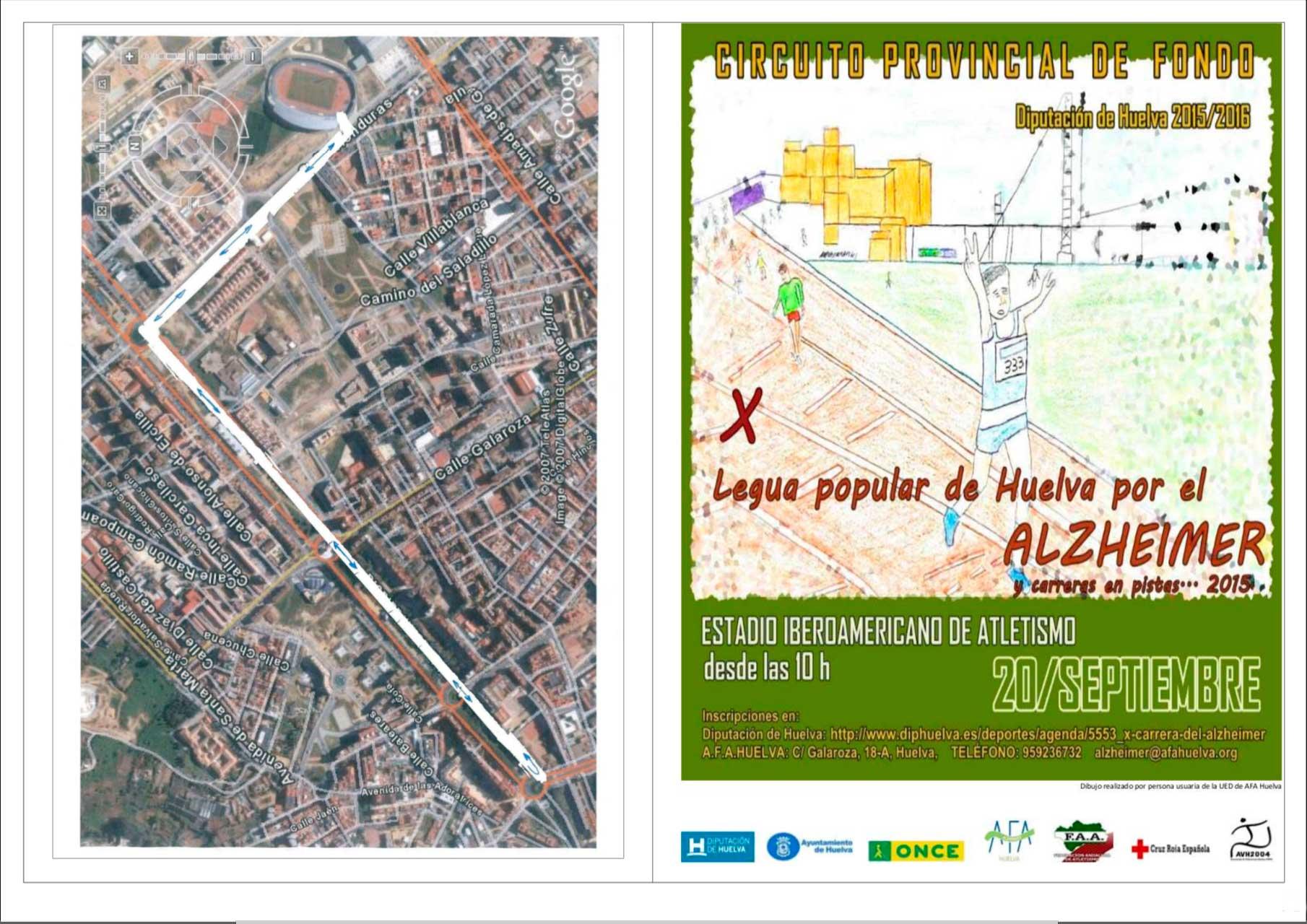 La Capital Onubense acoge la X Legua Popular de Huelva por el Alzheimer 2015