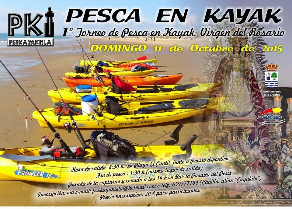 I Torneo de Pesca en Kayak Virgen del Rosario en Isla Cristina