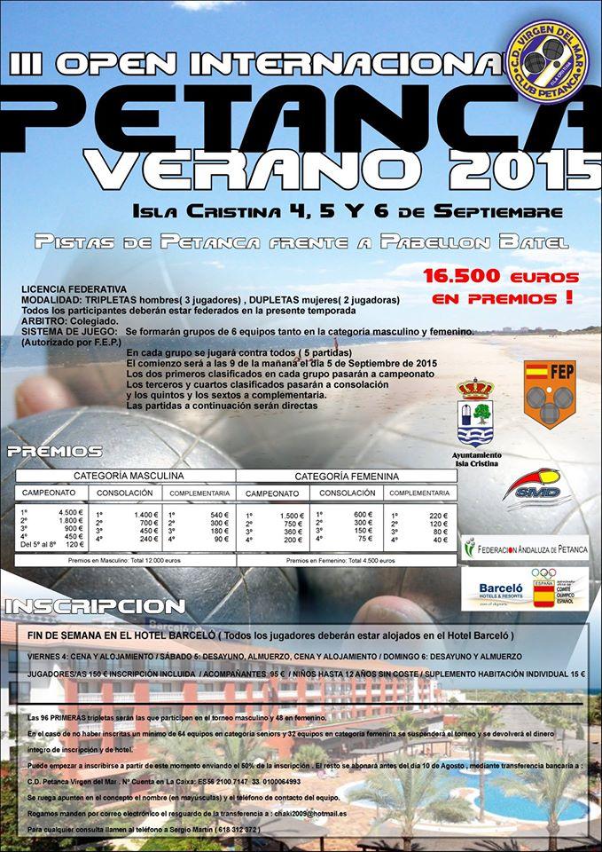Ayer comenzó el III Open Internacional de Petanca de Isla Cristina