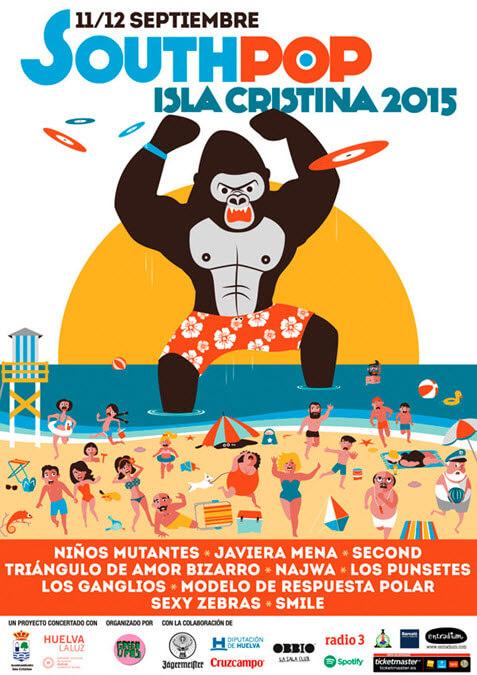 Horarios South Pop Isla Cristina 2015