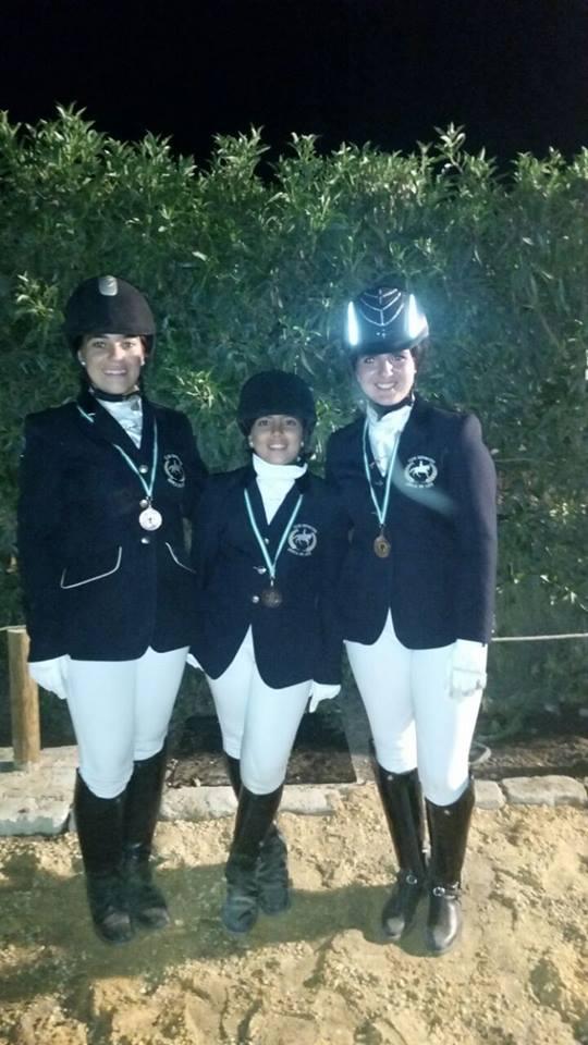 Tres grandes campeonas en hípica