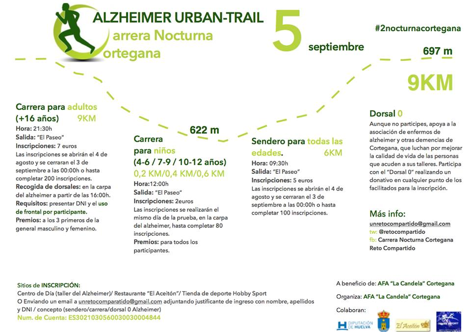 II Carrera Nocturna Alzheimer Urban - Trail Cortegana