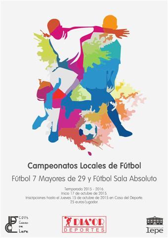 Programación de los campeonatos de Fútbol 7 y Fútbol Sala que convoca el Ayuntamiento de Lepe
