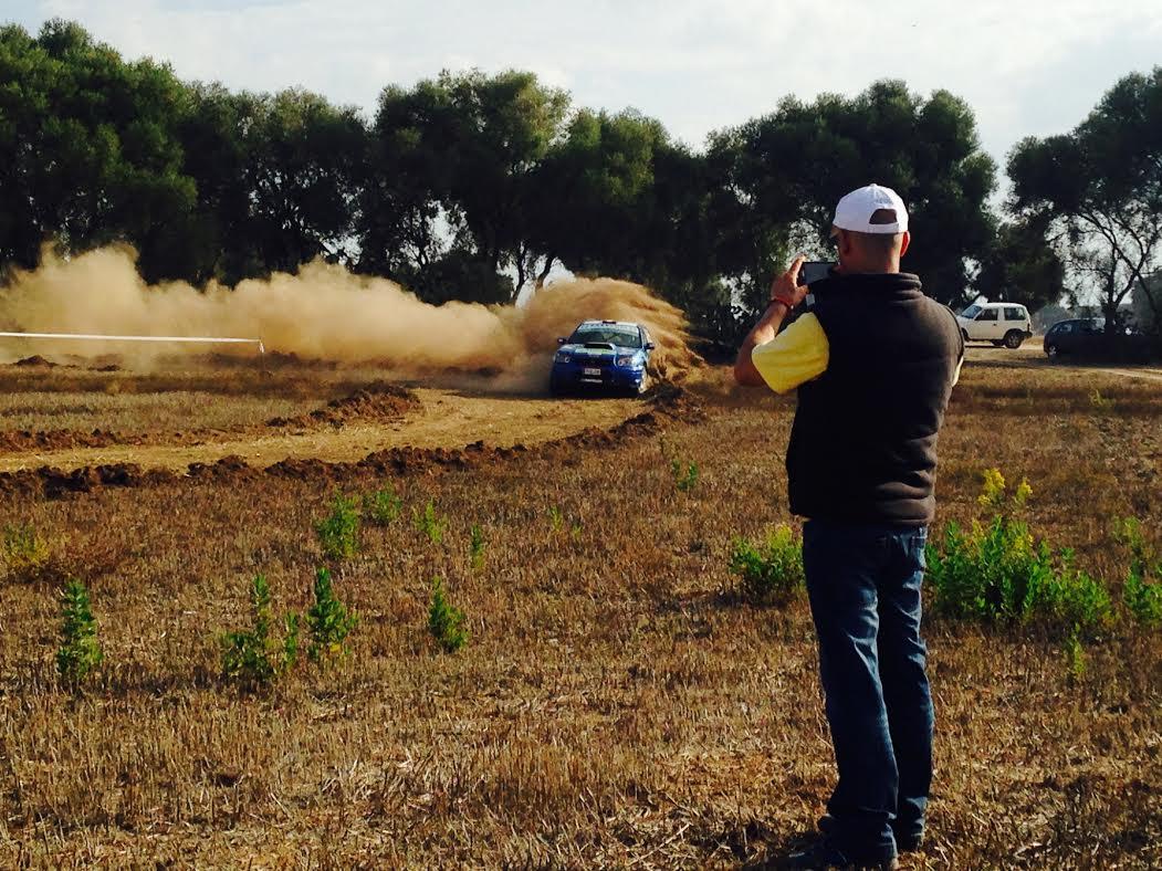 Santi González y Antonio Pérez Terceros en el Rally Tierra de Jerez