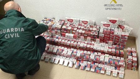 Intervienen en Isla Cristina cajetillas de tabaco de contrabando