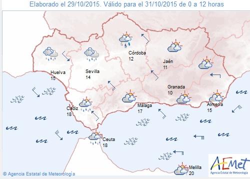 La lluvia será la protagonista durante el Puente de Todos los Santos