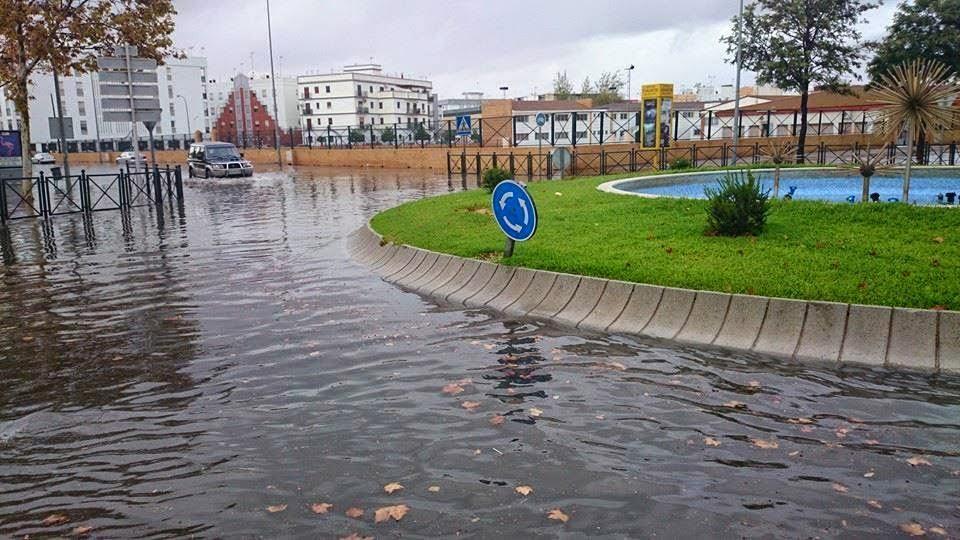 Tromba de agua que inundó Isla Cristina