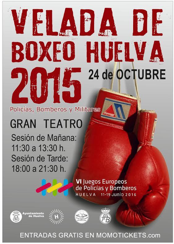 Ya están disponibles las entradas gratuitas para la velada de boxeo que organiza Huelva 2016 en el Gran Teatro
