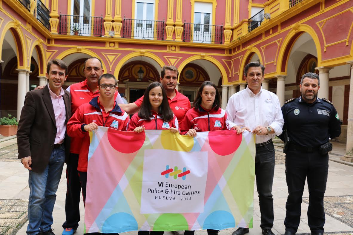 Integrantes de los juegos Europeos Huelva 2016 despiden a los miembros del CODA que viajan a Italia