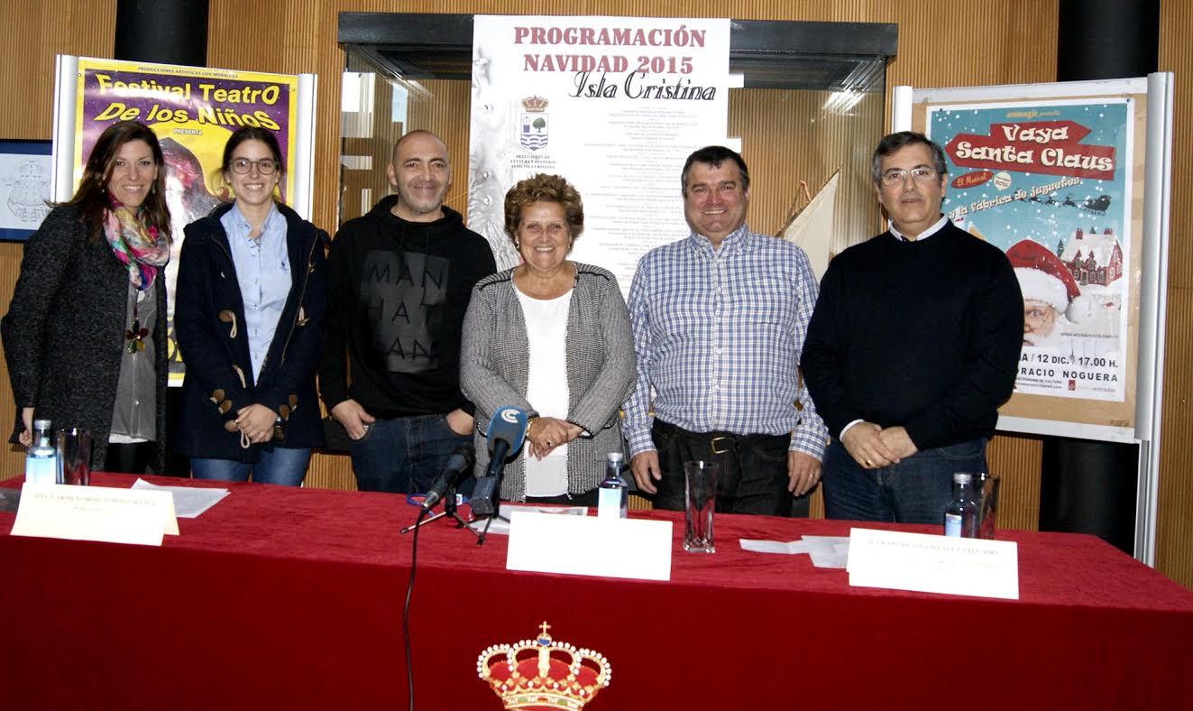 Programación cultural y navideña que se celebrará en Isla Cristina
