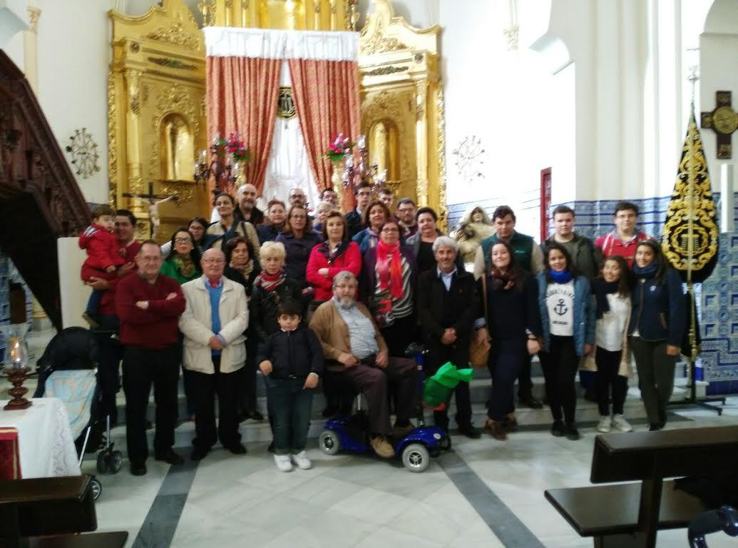 Visita de un grupo de vecinos de Sanlúcar la Mayor a Isla Cristina